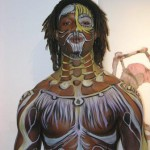 Live body Painting performance with Fallopian Artopians