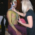 Live body Painting performance