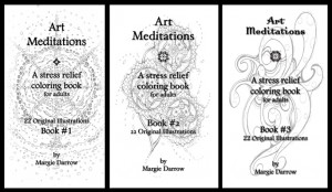 Set of 3 Stress Relief Art Meditation Coloring Books